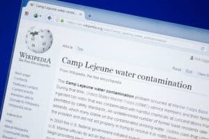 camp lejeune water samples